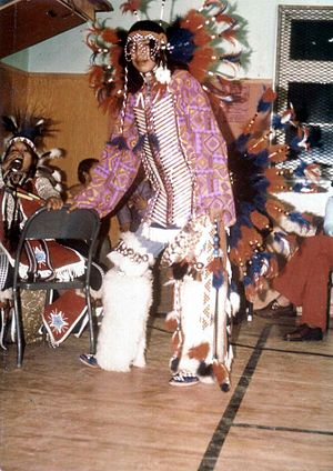 Blackfoot music - Blackfoot dancer, Alberta 1973