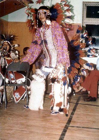 Blackfoot music - Blackfoot dancer, Alberta 1973