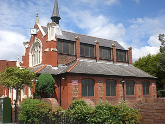 Queensferry, Flintshire - Image: Blessed Trinity Church side, Queensferry