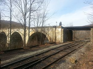 National Register of Historic Places listings in Garrett County, Maryland - Image: Bloomington Viaduct
