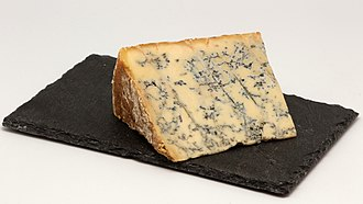 Types of cheese - Stilton, a blue cheese from England