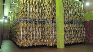 BEHER (ham) - Cellar of Acorn-fed hams of BEHER in Guijuelo.