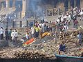 Bodies waiting for Cremation Burning Ghats.jpg