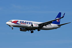 Boeing 737-800 der Travel Service