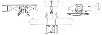Boeing TB - Boeing TB-1 3-view drawing from L'Aéronautique October,1927