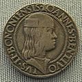 Bologna, testone di Giovanni II bentivoglio, 1463-1506.JPG
