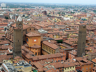 Bologna Cathedral - Bologna Cathedral from the Torre degli Asinelli