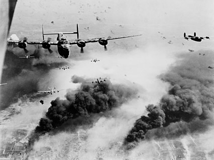 Bombing of the Concordia Vega oil refinery in Ploești, Romania by B-24s of the United States Fifteenth Air Force on 31 May 1944