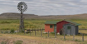 National Register of Historic Places listings in Sioux County, Nebraska - Image: Bone Cabin, Agate Fossil Beds NM 1
