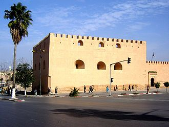 Meknes - Borj Belkari tower. Built in the 17th century.