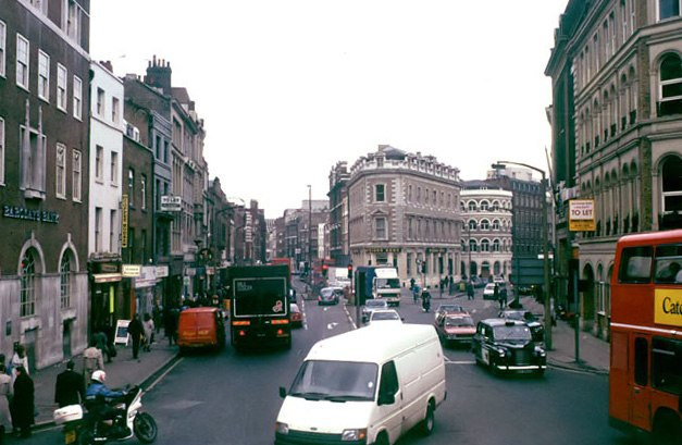 Borough High St from a route 21 bus, 1989 - geograph.org.uk - 1612279