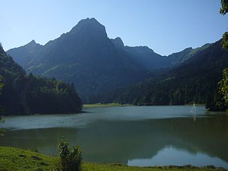 Brünnelistock - View from the Obersee (east side)