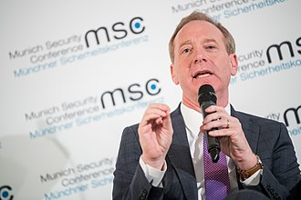 Brad Smith (American lawyer) - Smith during the MSC 2018