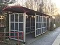 Bramley station shelter, March 2020.jpg