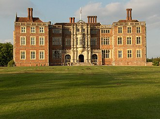 Bramshill House - Bramshill House, south façade with oriel window in centre
