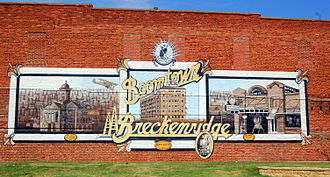 Breckenridge, Texas - Mural in downtown Breckenridge