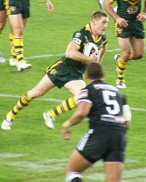 Brent Tate - Tate playing for Australia during the 2008 World Cup.