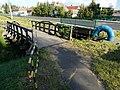 Bridges over the Csóka-kő stream, Hévízi Road, Keszthely, 2016 Hungary.jpg