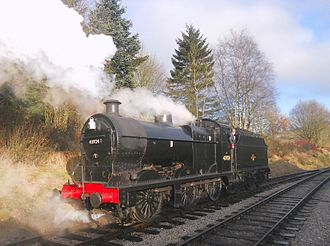 Keighley and Worth Valley Railway - British Railways (Midland Region) 0-6-0 Class 4F No. 43924 at Oxenhope