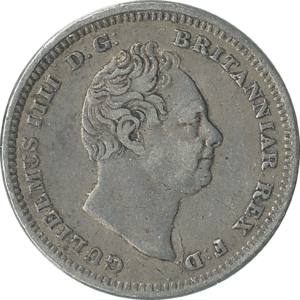 Fourpence (British coin) - Image: British fourpence 1837 obverse