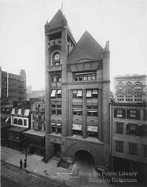 Frank Freeman - Image: Brooklyn Fire Headquarters Underhill 1910