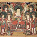 Brooklyn Museum - Amit'a (Amitabha) with Six Bodhisattvas and Two Arhats.jpg