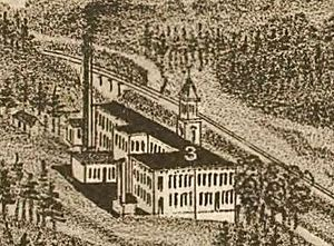 Brookside Mills - Brookside Mills, as it appeared on an 1886 map of Knoxville