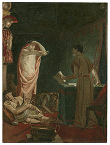 julius caesar play  a late 19th century painting of act iv scene iii brutus sees caesar s ghost