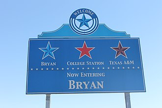 Bryan, Texas - Bryan welcome sign