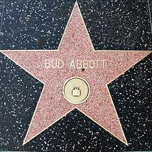 Abbott's star on the Hollywood Walk of Fame for his work in television