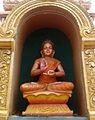 Buddha statue at Dwaraka Tirumala Temple 01.jpg