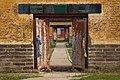 Buddhist monastery door in Amarbayasgalant monastery in Mongolia.jpg