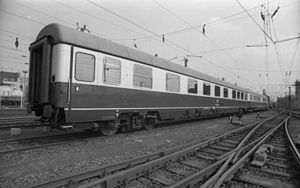 Royal train - The only newly built saloon coach for Deutsche Bundesbahn, 1974