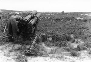 Nebelwerfer - 21 cm Nebelwerfer 42 launcher in North Africa