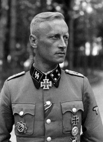 Sturmbannführer -  A Sturmbannführer of the Waffen-SS