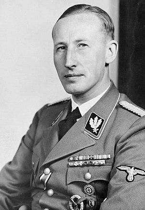 Reinhard Heydrich shown as a SS-Gruppenführer ...