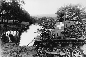 Panzer I - 4 September 1939 PzKpfw I Ausf. An on the Brda river.
