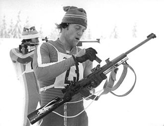 1977–78 Biathlon World Cup - Frank Ullrich and Klaus Siebert at the East German Championships in 1978