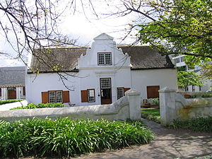 Cape Dutch architecture - Typical Cape Dutch styled house in Stellenbosch