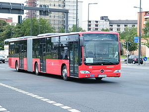 Rail replacement bus service - Image: Bus Ersatz der DB