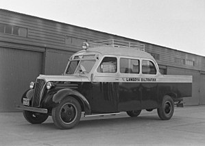 Bruck (vehicle) - 1937 Chevrolet bodied by Anco in Trondheim with an open cargo area integrated with the body.
