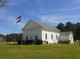 National Register of Historic Places listings in Dinwiddie County, Virginia - Image: Butterwood Chapel oblique view with flagpole