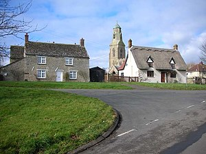 Bythorn - Image: Bythorn Cottages and Church geograph.org.uk 345536