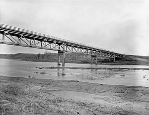 National Register of Historic Places listings in Sheridan County, Wyoming - Image: CKW Bridge over Powder River