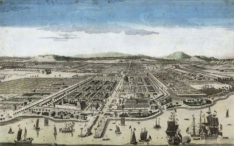 COLLECTIE TROPENMUSEUM De stad Batavia TMnr 3728-537