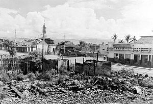 Indonesian National Revolution - Destruction in Bandung's Chinese quarter