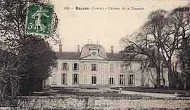 An old postcard view of the Château de la Touanne, in Baccon