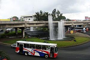 Transport in Costa Rica - San Pedro roundabout in San José