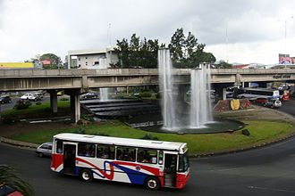 Transport in Costa Rica - San Pedro roundabout in San José