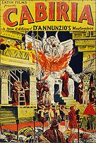 Cabiria 1914 poster restored